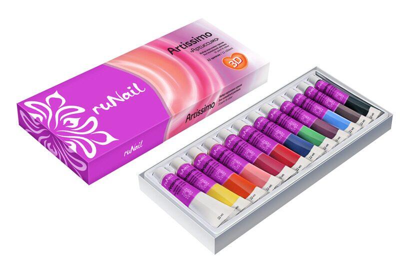 Акриловые краски для дизайна гелевых ногтей