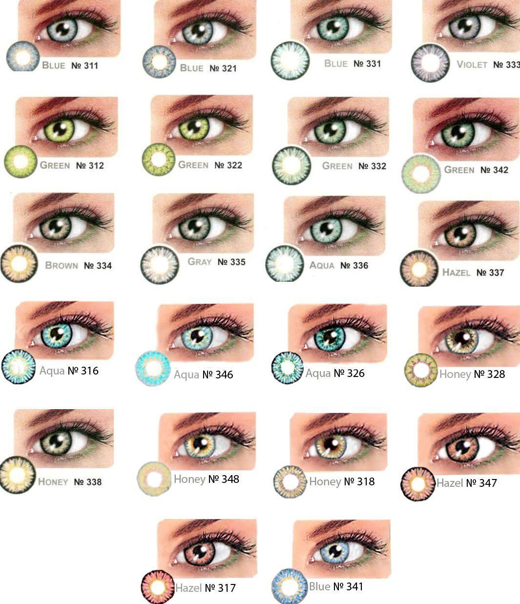 Каких цветов бывают глаза у людей